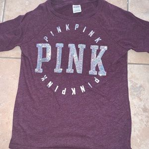 PINK sparkly logo tee